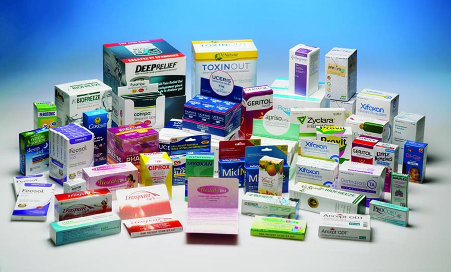 Horizontal Pharmaceutical Packaging Box