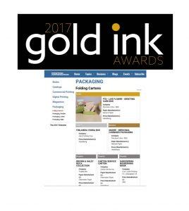 Gold Ink Awards 2017- Carton Services